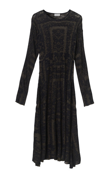 By Malene Birger Onix Viscose Jacquard Dress in print