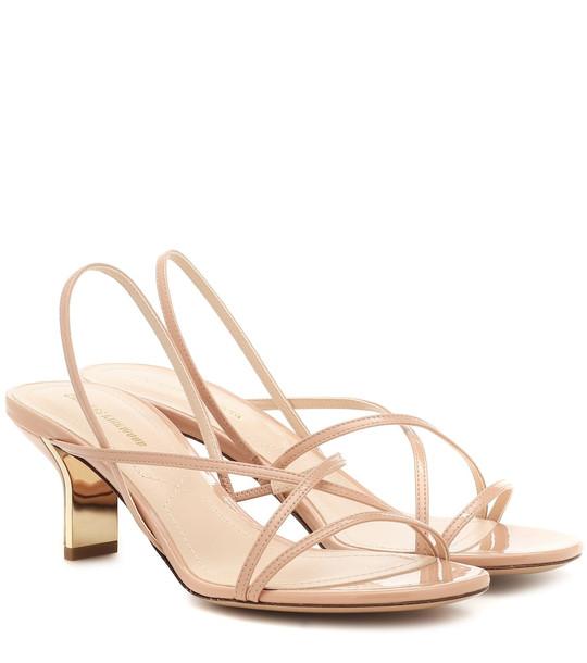 Nicholas Kirkwood Leeloo leather sandals in beige