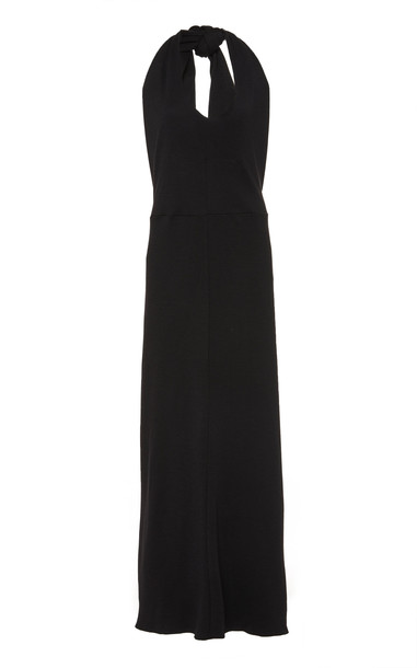 Deitas Zhanna Wool Blend Halter Dress in black