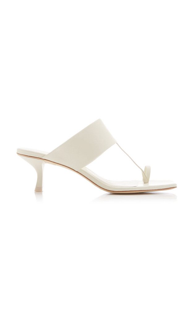 Cult Gaia Yvette Leather Sandals in ivory