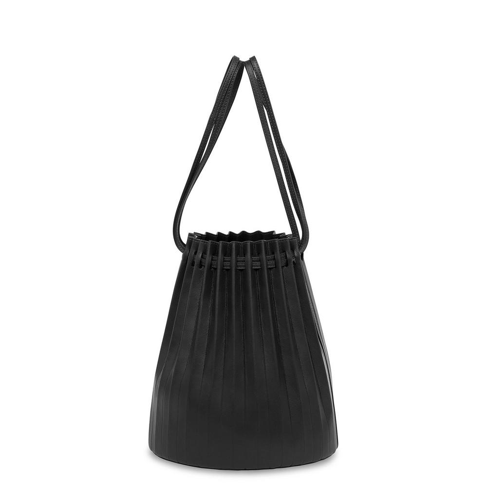 Mansur Gavriel Lamb Pleated Bucket Bag - Black