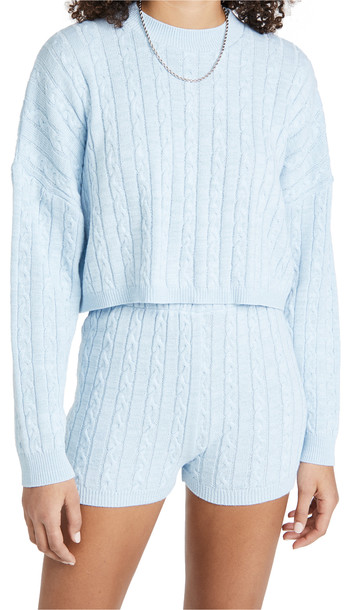 Rahi Donna Sweater and Shorts Set in blue