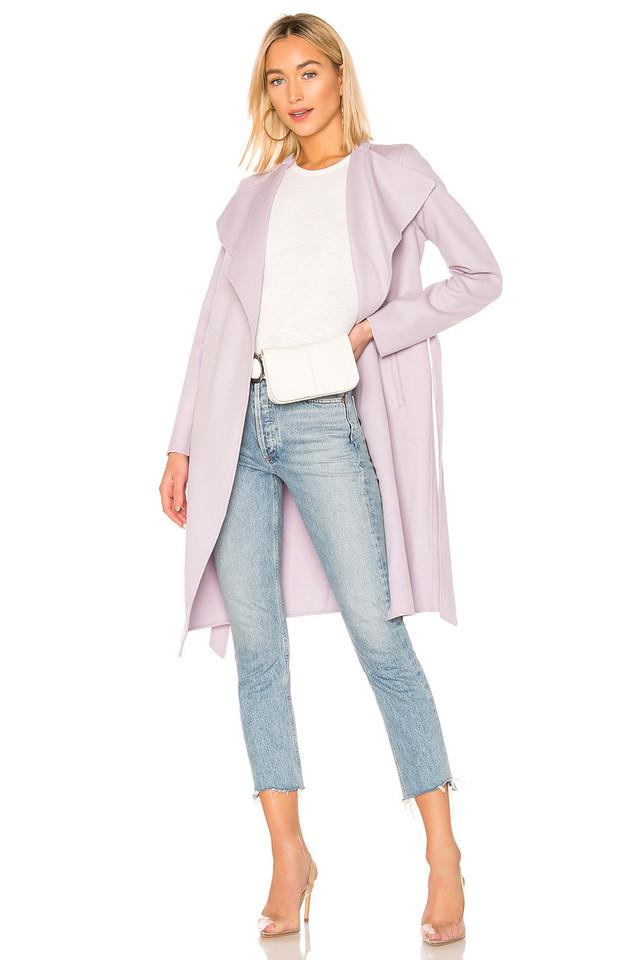 Mackage Leora Doubleface Wool Coat in lavender