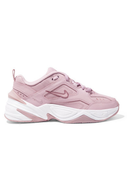 Nike - M2k Tekno Leather And Mesh Sneakers - Lavender