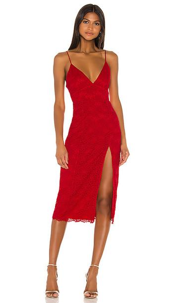 Lovers + Friends Lovers + Friends Saba Midi Dress in Red
