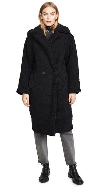 Apparis Daryna Faux Fur Coat in noir
