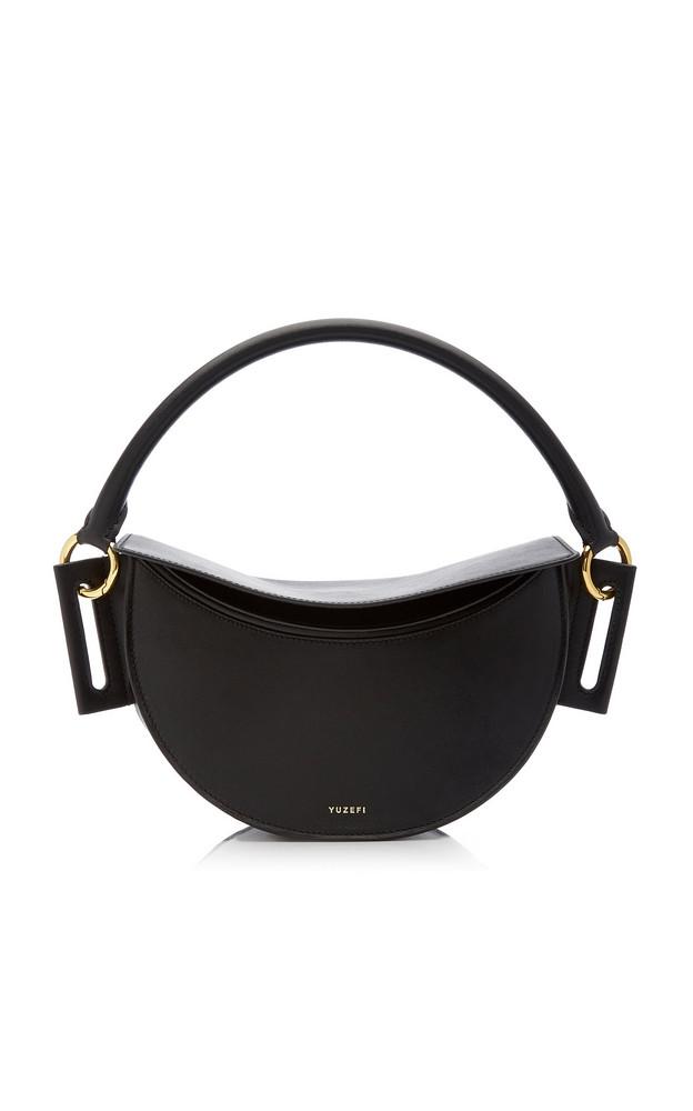 Yuzefi Dip Leather Shoulder Bag in black
