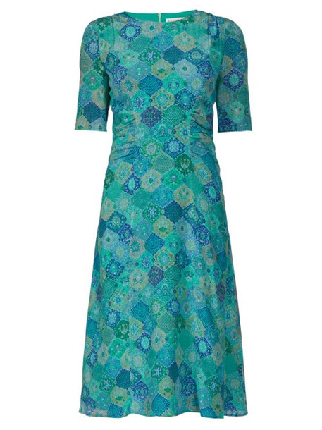 Altuzarra - Sylvia Graphic Print Crepe Dress - Womens - Blue Print