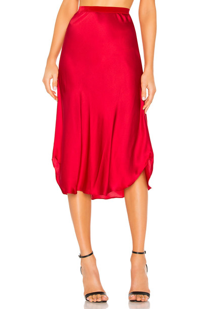 Mes Demoiselles Nami Skirt in red