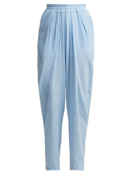 Albus Lumen - Chico Semi Sheer Trousers - Womens - Light Blue