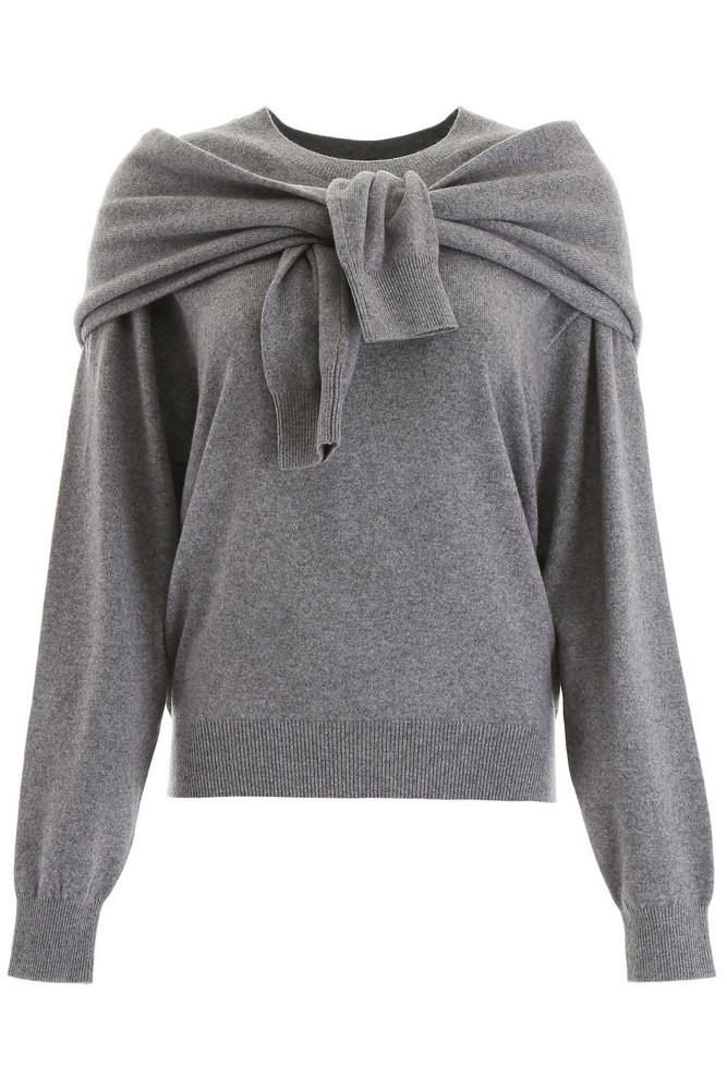 Alexander Wang Shoulder Tie Pullover in grey