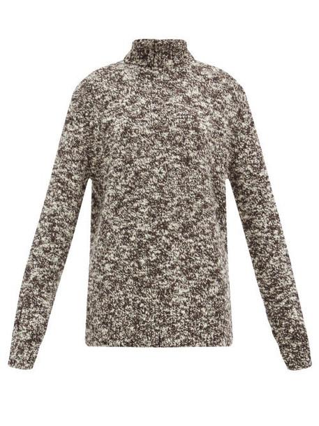 Joseph - Granite Roll-neck Merino-blend Sweater - Womens - Black Multi