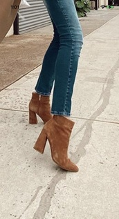 shoes,brown,suede boots,ankle boots