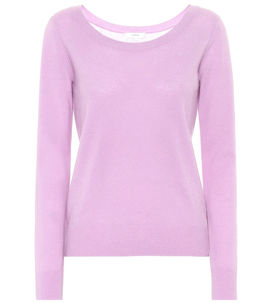 Vince Cashmere-blend sweater in purple