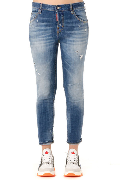 Dsquared2 Cloudy Distressed Skinny Jeans in blue