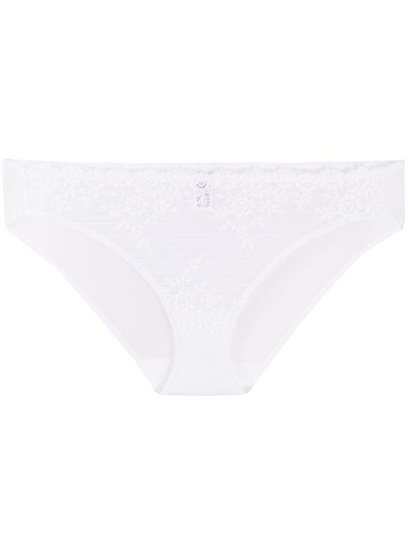 Wacoal floral embroidered briefs in white