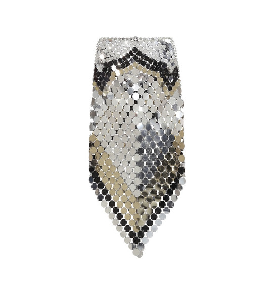 Paco Rabanne Paillette-embellished skirt in metallic