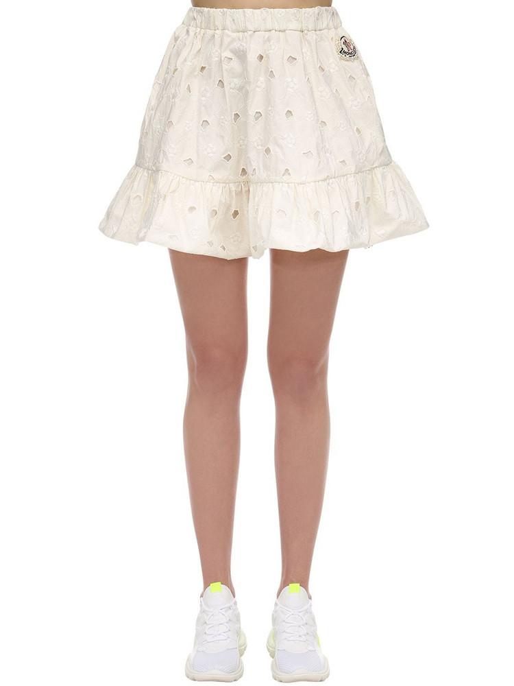 MONCLER GENIUS Simone Rocha Embroidered Taffeta Skirt in white
