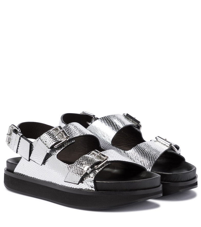 Isabel Marant Ophie snake-effect leather sandals in silver