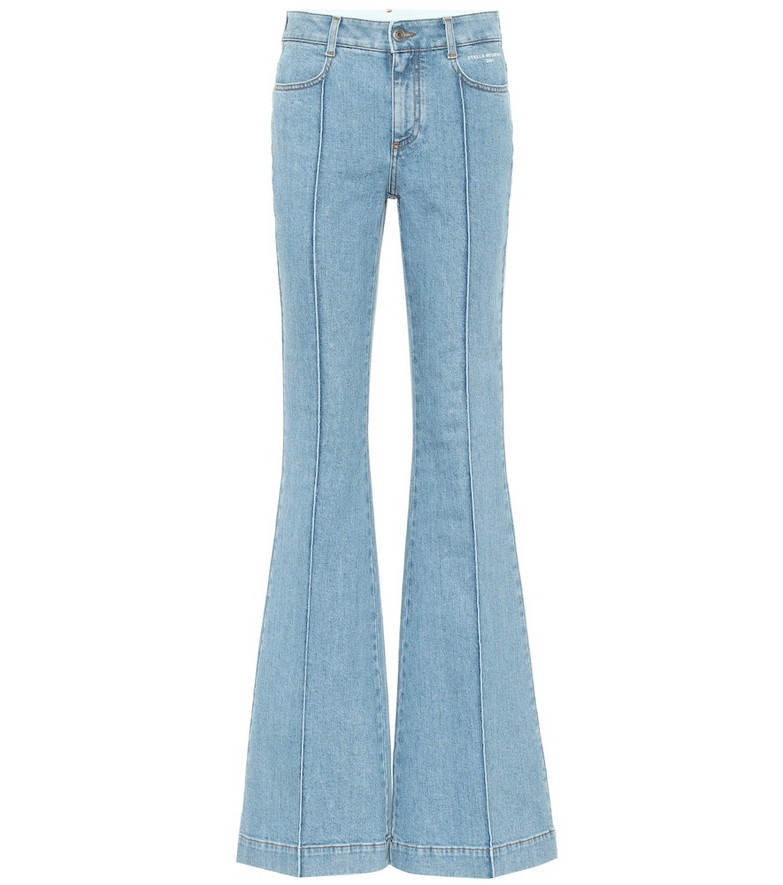Stella McCartney Mid-rise flared jeans in blue
