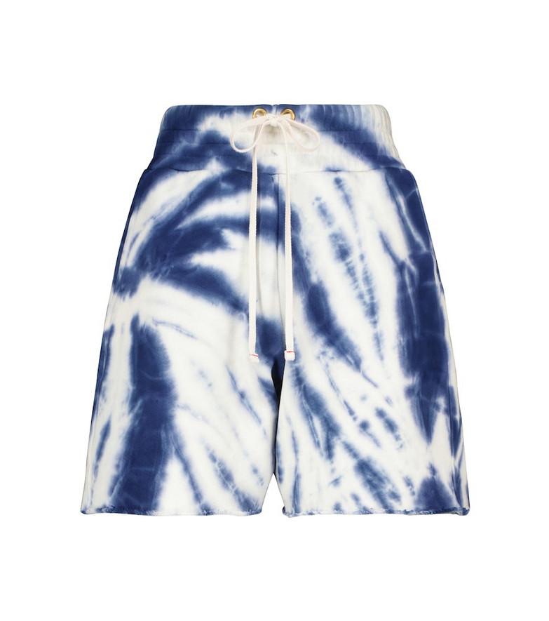 LES TIEN Yacht tie-dye cotton shorts in blue