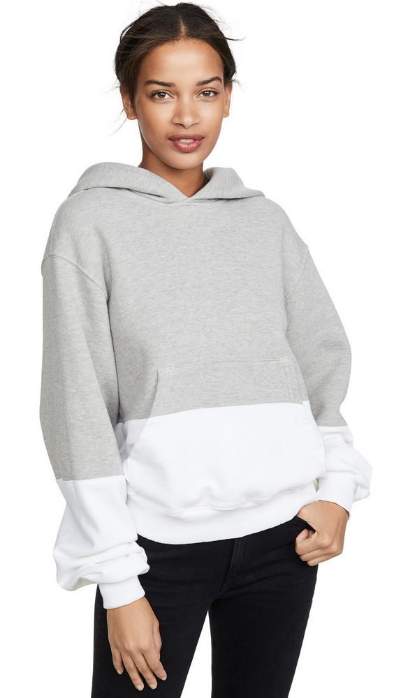 Clu Colorblocked Hoodie in grey / white