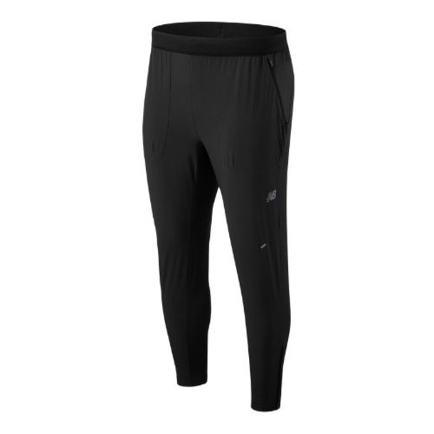 New Balance 93258 Men's NYC Marathon Q Speed Run Crew Track Pant - Black (MP93258MBK)