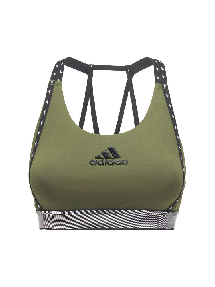 ADIDAS PERFORMANCE Don't Rest Logo Bra Top in green