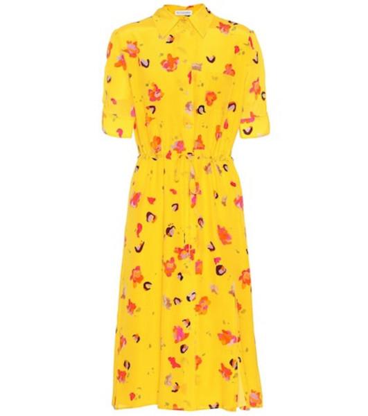 Altuzarra Vittoria floral silk dress in yellow