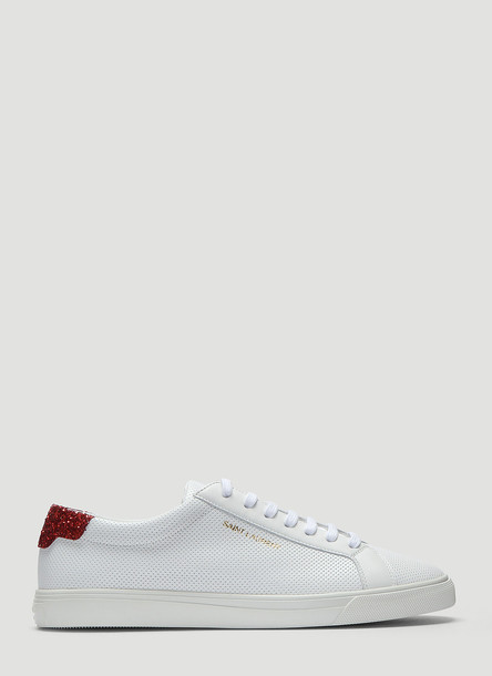 Saint Laurent Andy Sequinned Sneakers in White size EU - 36