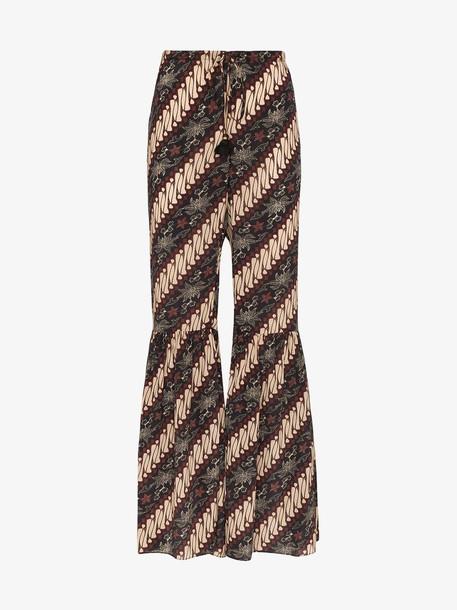 Figue brielle batik-print silk trousers