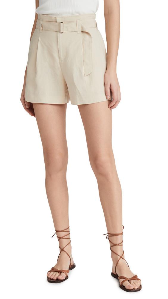 Club Monaco Darcee Shorts in tan