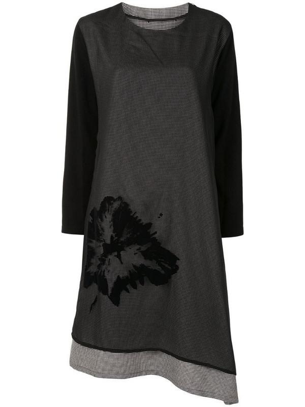 Y's layered asymmetrical dress in black