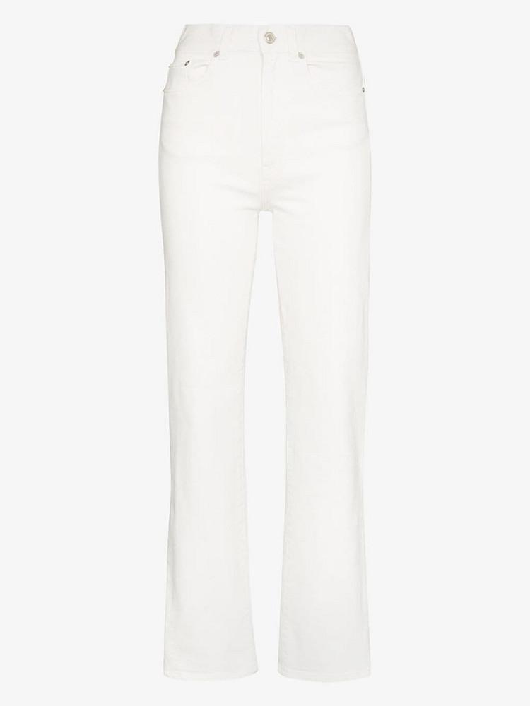 Jeanerica super high waist straight leg jeans in white