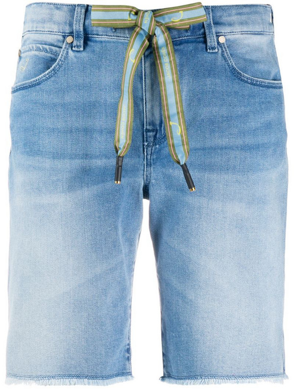 Jacob Cohen drawstring-waist denim shorts in blue