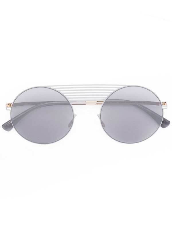 Mykita round frame sunglasses in grey