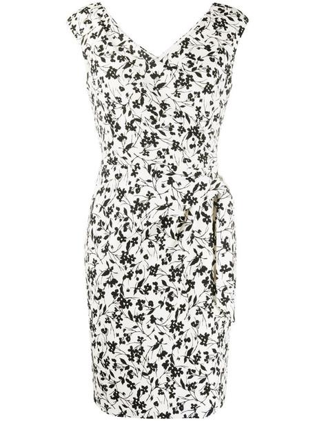 Lauren Ralph Lauren floral-print wrap dress in white