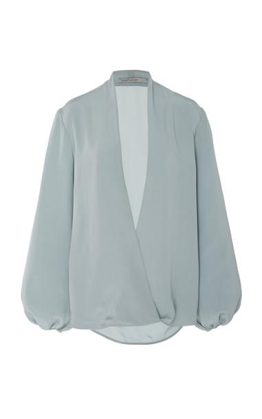 Silvia Tcherassi Danila Blouse Size: L in blue
