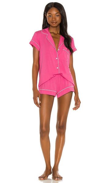 eberjey Gisele Short PJ Set in Fuchsia in pink