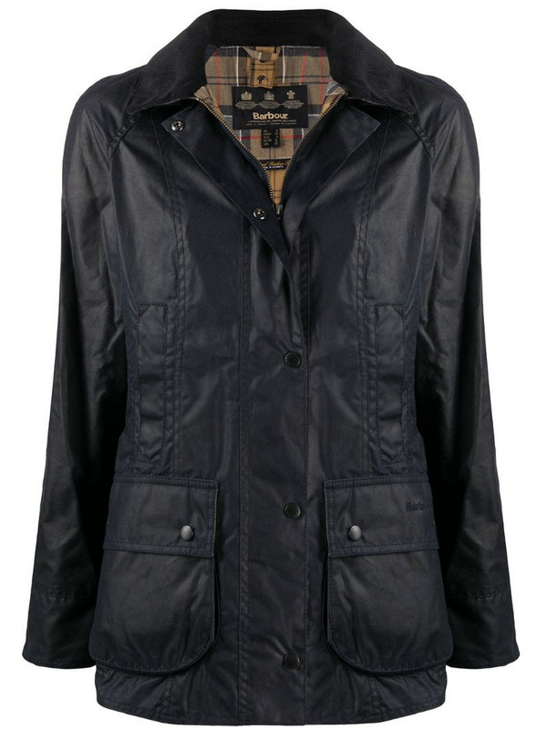 Barbour Beadnell waxed-cotton jacket in blue