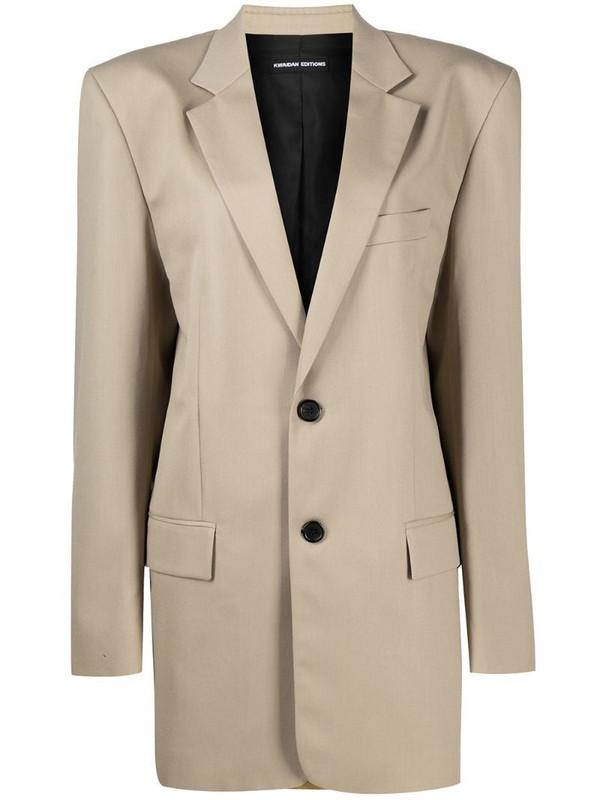 Kwaidan Editions oversized single-breasted blazer in neutrals