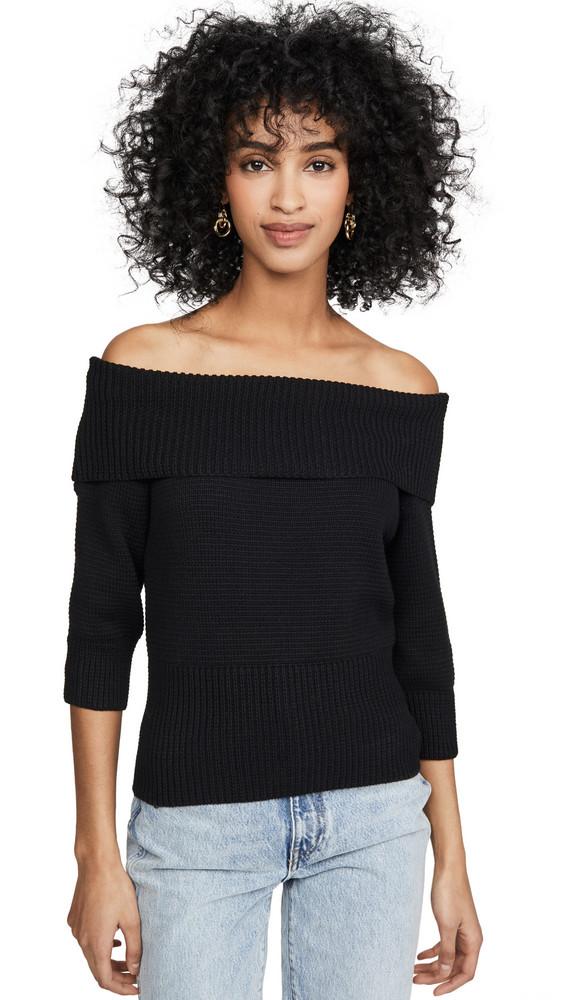 525 America Boatneck Pullover in black