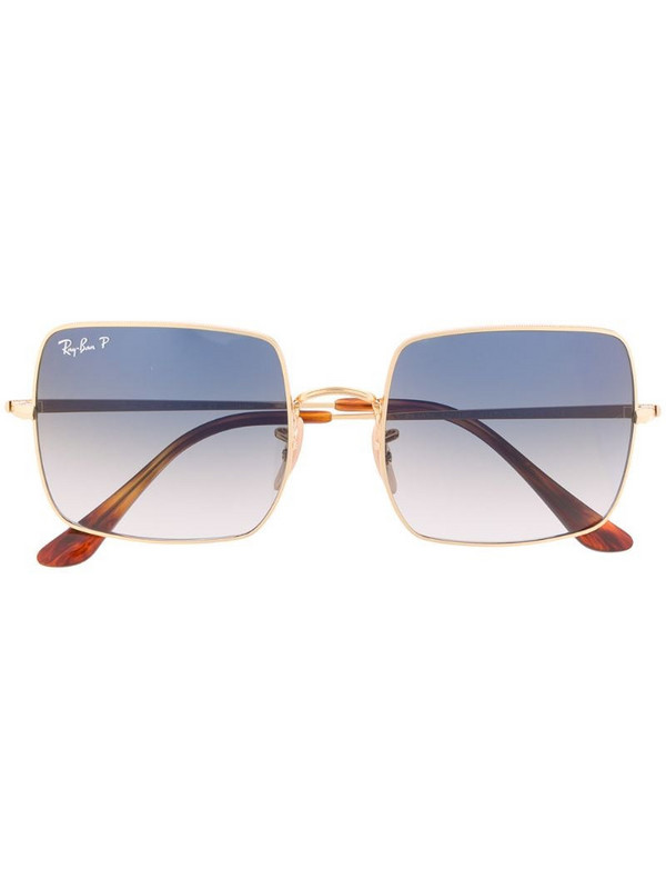 Ray-Ban square gradient sunglasses in gold