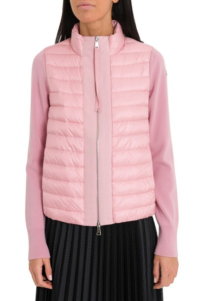 Moncler Contrasting-trim Padded Shell And Down-blend Jacket
