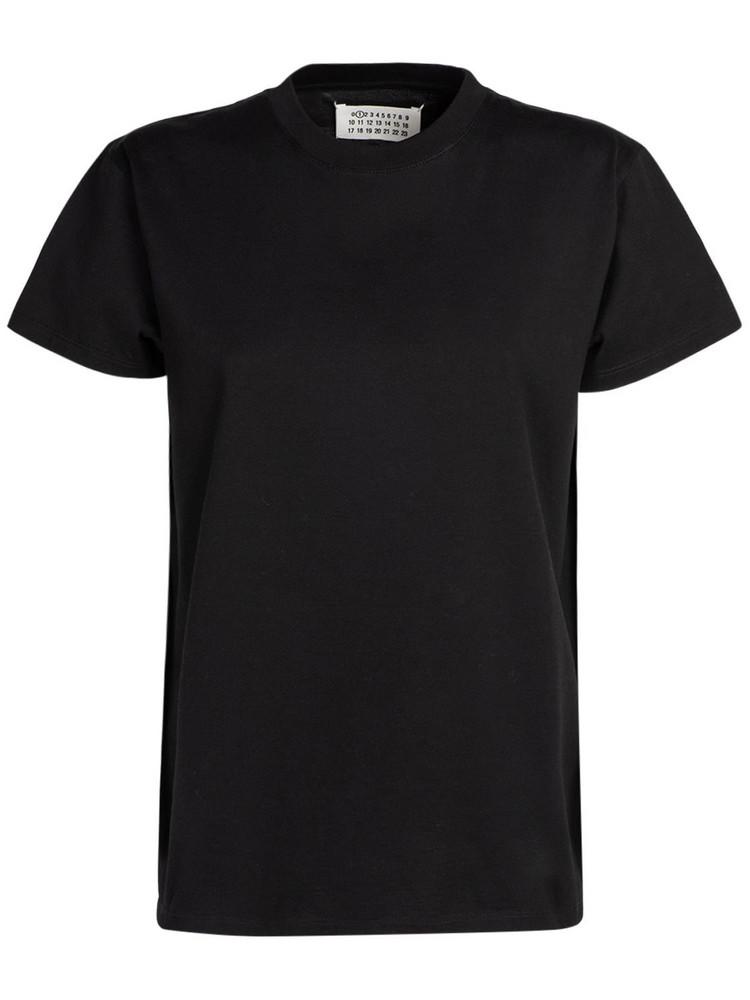 MAISON MARGIELA Cotton Jersey T-shirt in black