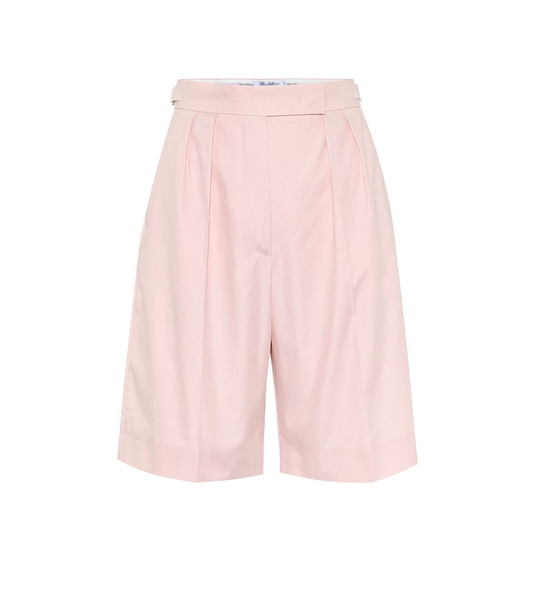 Max Mara Safari cotton Bermuda shorts in pink