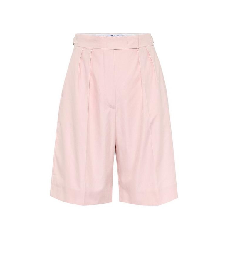 Max Mara Safari cotton Bermuda shorts in pink