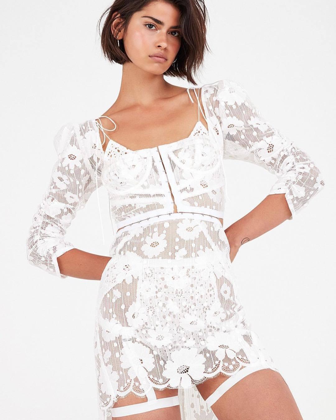dress, white dress - Wheretoget