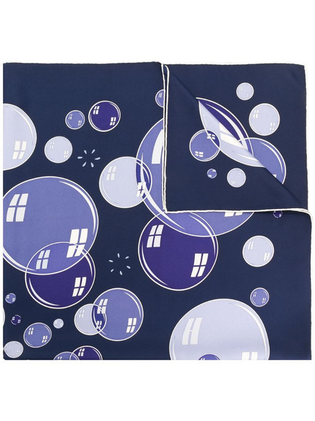 Hermès pre-owned soap bubbles print scarf in blue