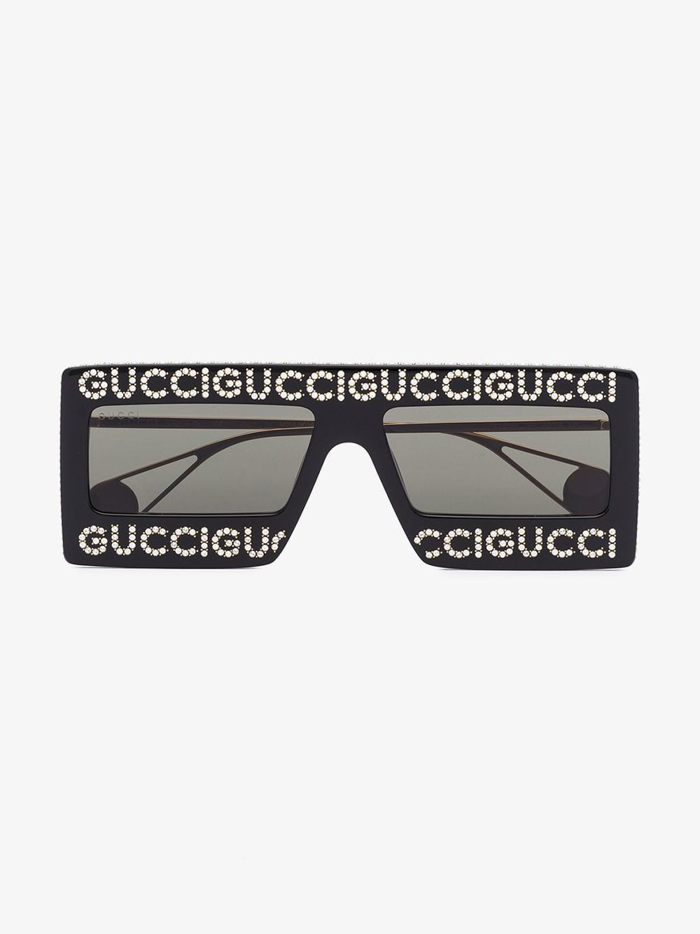 Gucci Eyewear Mask-frame acetate sunglasses in black
